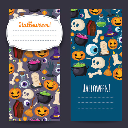 Halloween cover with traditional icons for your design