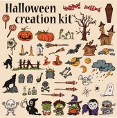 Halloween Creation Kit - Monsters, Pumpkins, Ghosts and many other.