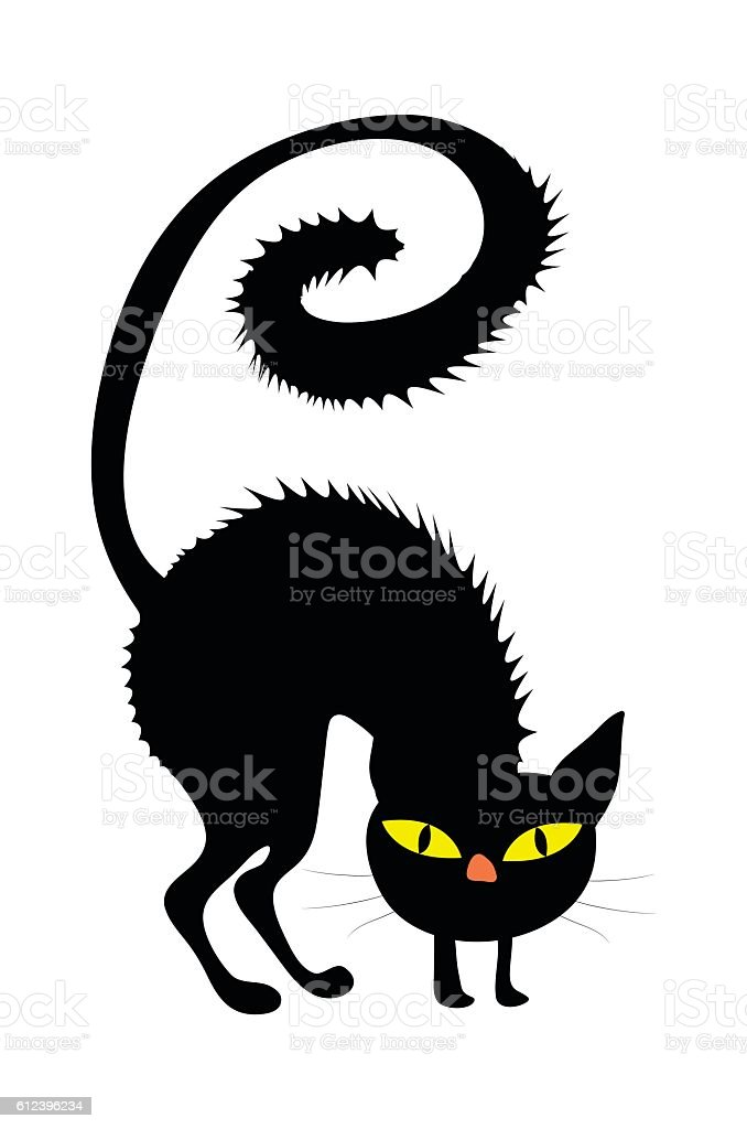 halloween creepy scary witches cat vector symbol icon design. vector art illustration