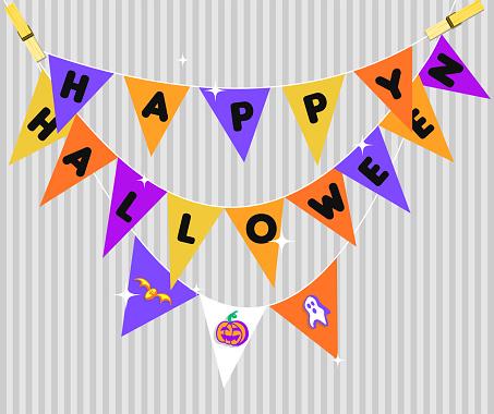 Halloween Decoration - Happy Halloween Pennants