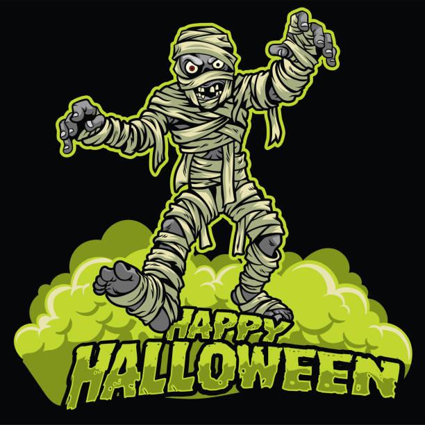 halloween-design der mumie - frankenstein stock-grafiken, -clipart, -cartoons und -symbole