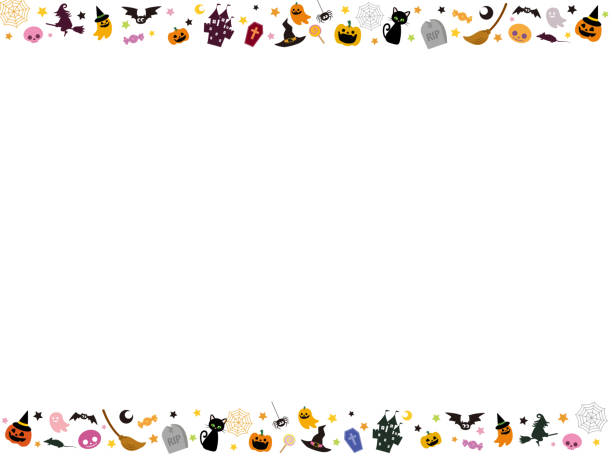 Halloween Design4 Halloween Design candy borders stock illustrations