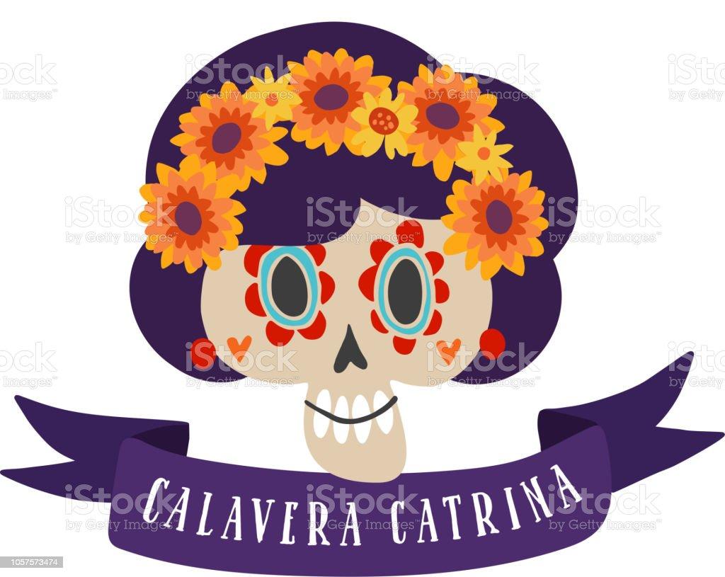 Halloween Dia De Los Muertos Greeting Card Mexican Day Of