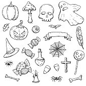 Halloween Doodles Collection