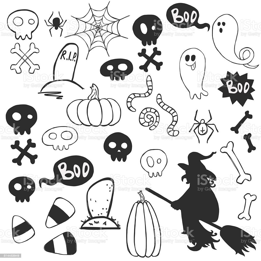 Avec Dessin Anime Halloween Dessins Fantomes Vecteurs Libres De Droits Et Plus D Images Vectorielles De Araignee Istock