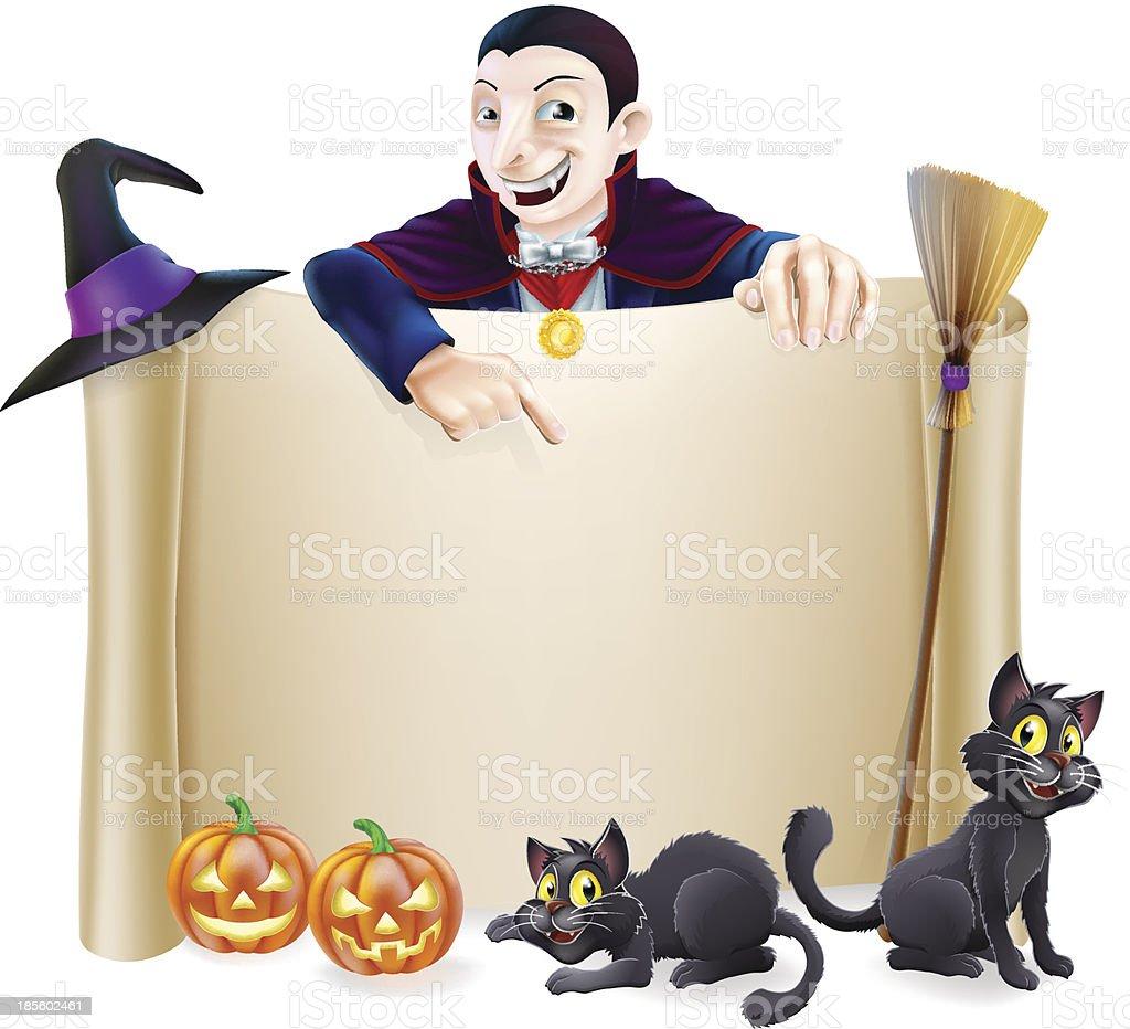 Halloween Dracula Banner royalty-free halloween dracula banner stock vector art & more images of backdrop