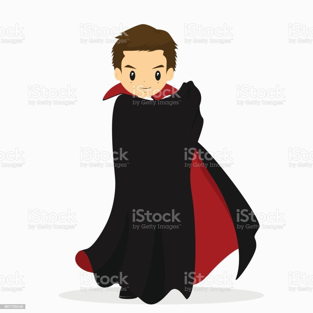 Halloween Dracula Costume Vector vector art illustration