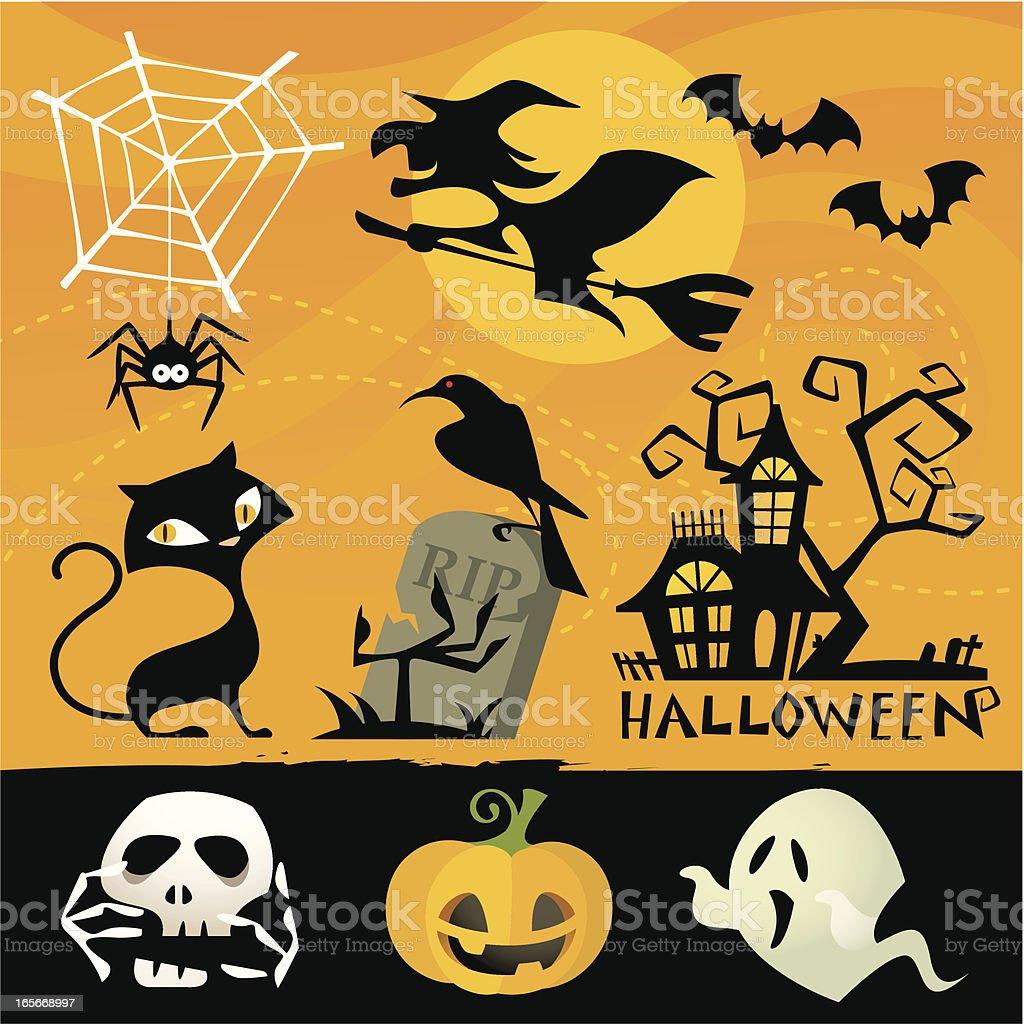 Halloween Elements royalty-free stock vector art