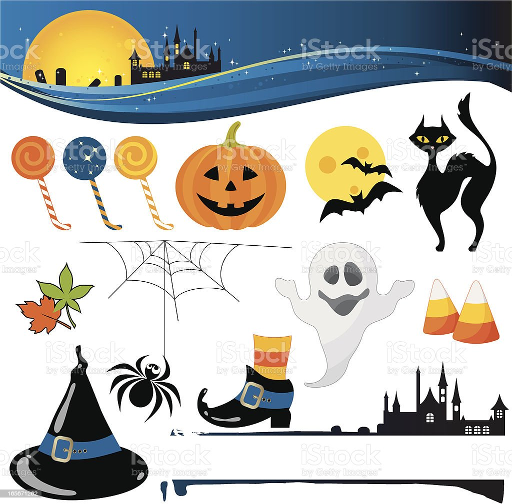 halloween elements royalty-free halloween elements stock vector art & more images of autumn