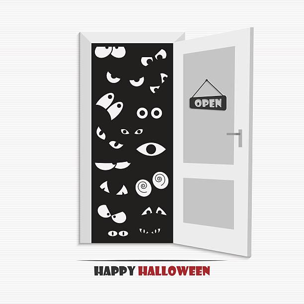 halloween augen - türposter stock-grafiken, -clipart, -cartoons und -symbole