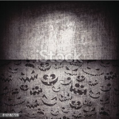istock Halloween Faces on Grunge Background 510182723