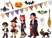 Vector illustration of Halloween Family and Monsters set. Files included: EPS 8, AI CS2,  and large JPG.