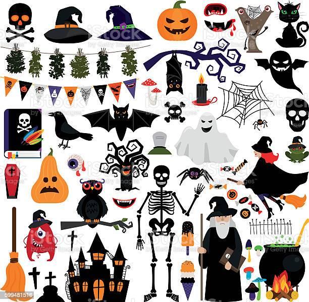 Halloween fashion flat icons vector id599481516?b=1&k=6&m=599481516&s=612x612&h=uhdhpy5ao9z02ax8of3apwrr10mgr1bnq7s3gci caw=