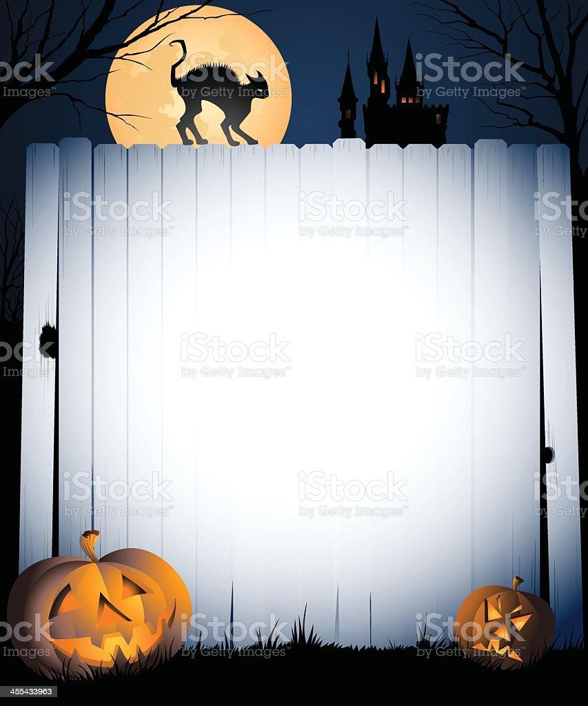 Halloween Fence Banner royalty-free stock vector art
