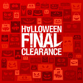Halloween final clearance vector poster