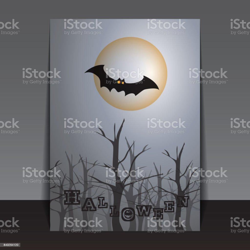 Halloween Flyer or Cover Design vector art illustration