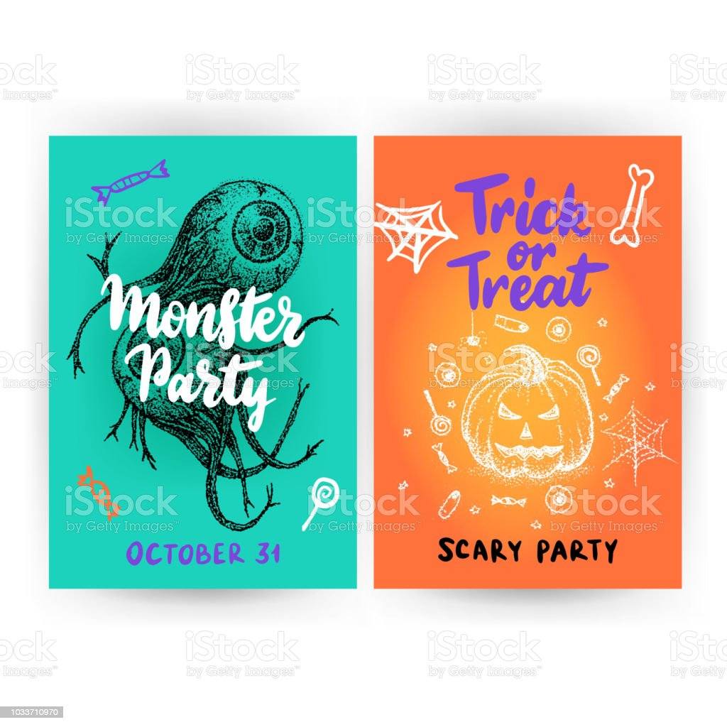 halloween flyer template stock vector art more images of autumn