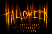 istock Halloween font, Letters and Numbers 1226992704