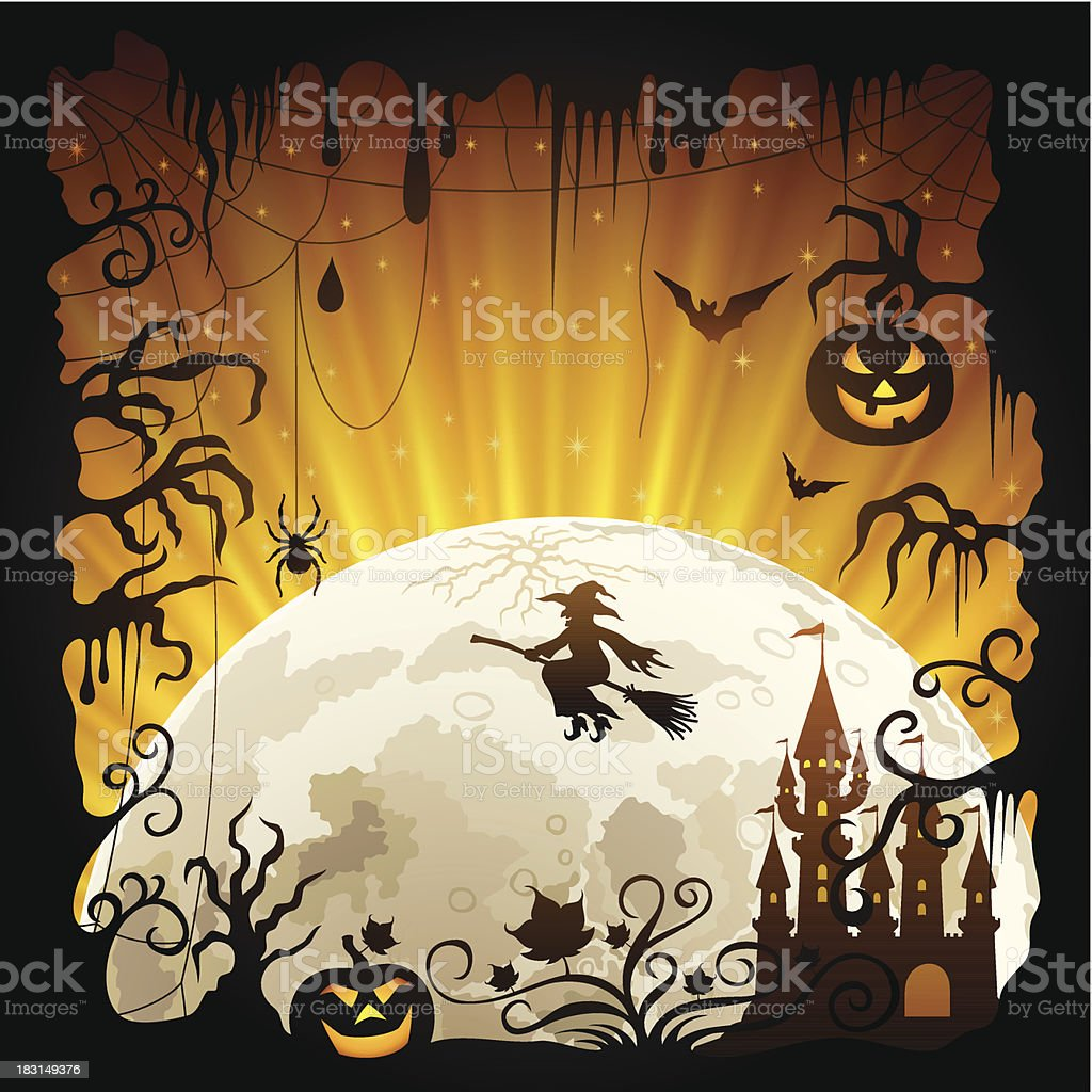 Halloween Frame royalty-free stock vector art