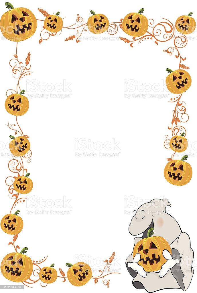 Halloween Frame With Pumpkins Cartoon Stock Vector Art & More Images ...