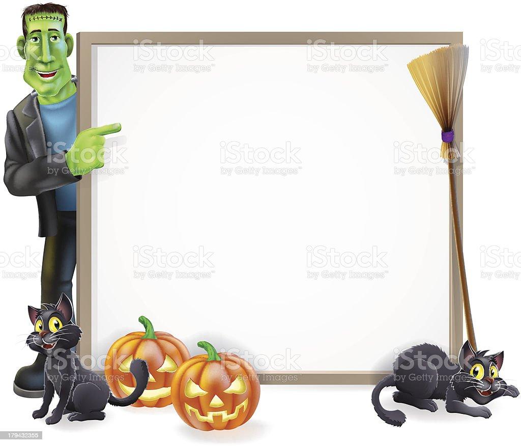 Halloween Frankenstein Sign royalty-free stock vector art