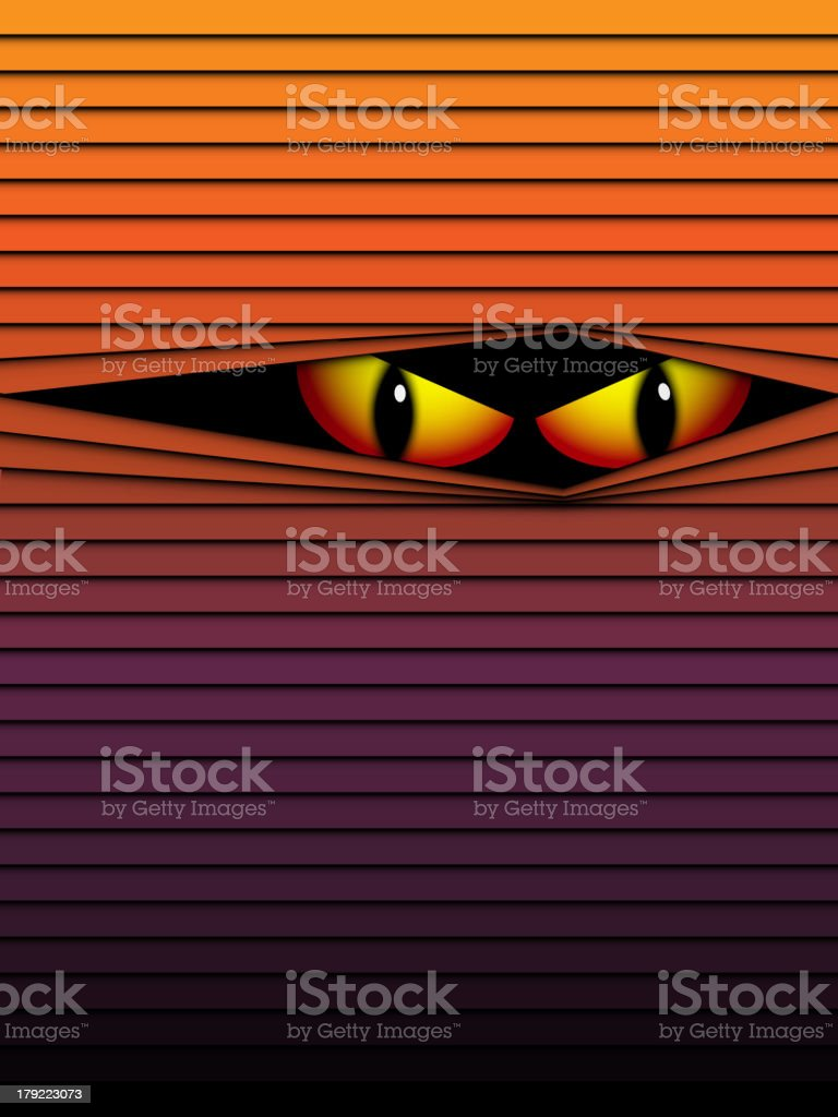 Halloween Ghost Eyes Hidden Stripes royalty-free halloween ghost eyes hidden stripes stock vector art & more images of anger