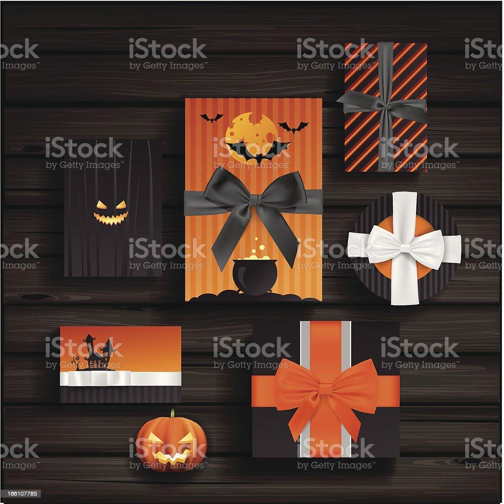 Halloween gifts royalty-free stock vector art