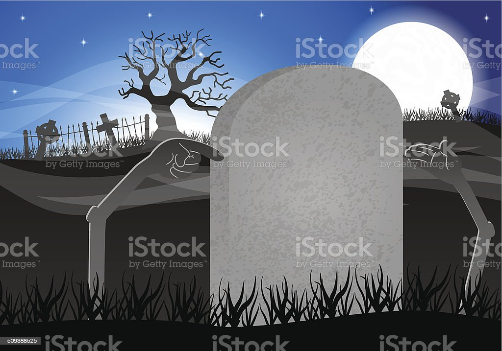 halloween grave stone to write on royalty-free stock vector art