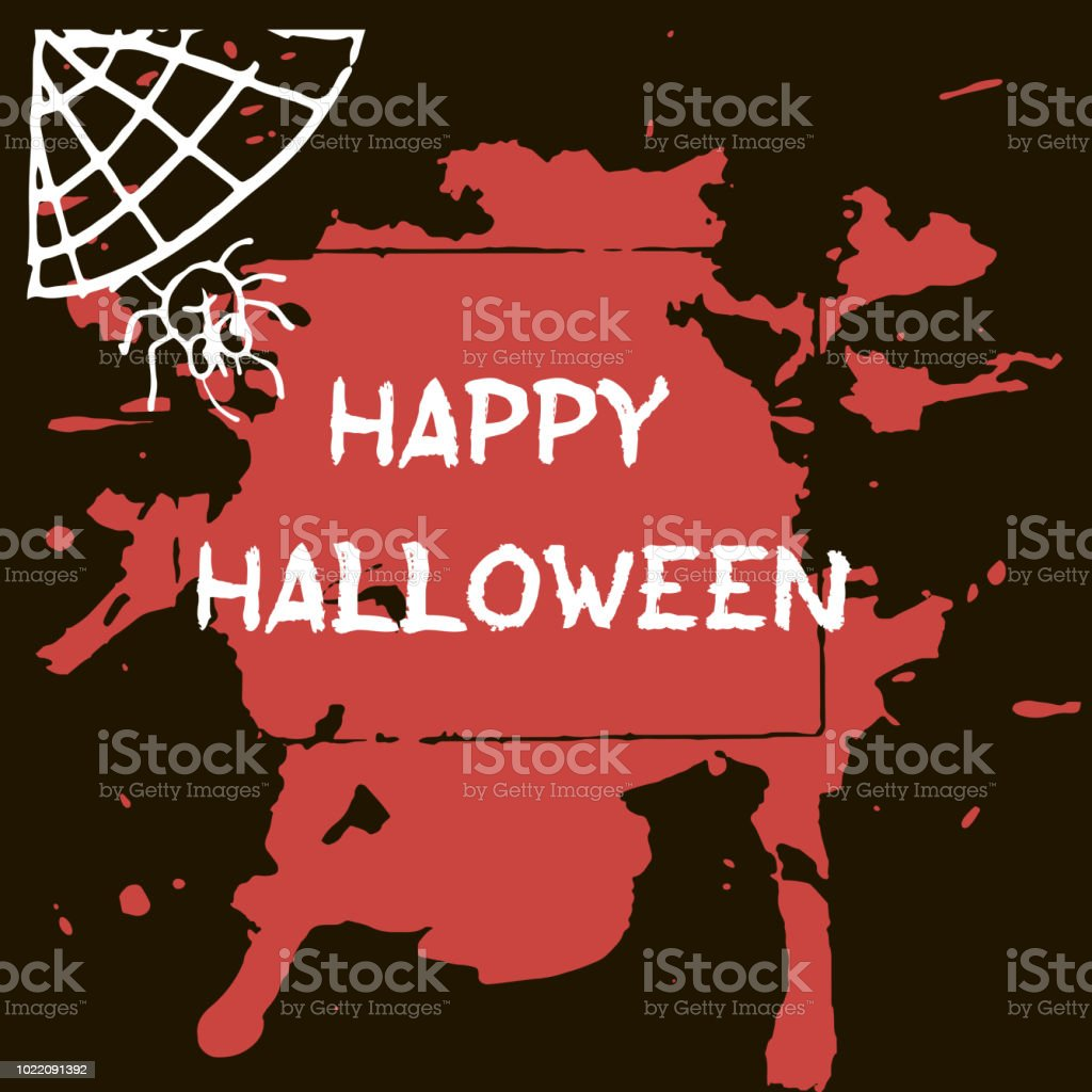 Halloween greeting card abctract grunge stains and splashes bats and halloween greeting card abctract grunge stains and splashes bats and spiders text happy m4hsunfo