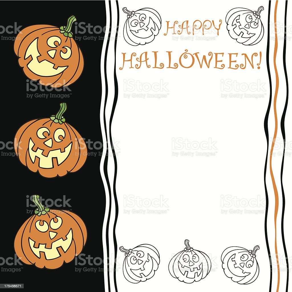 Halloween greeting card with  place for text royalty-free stock vector art