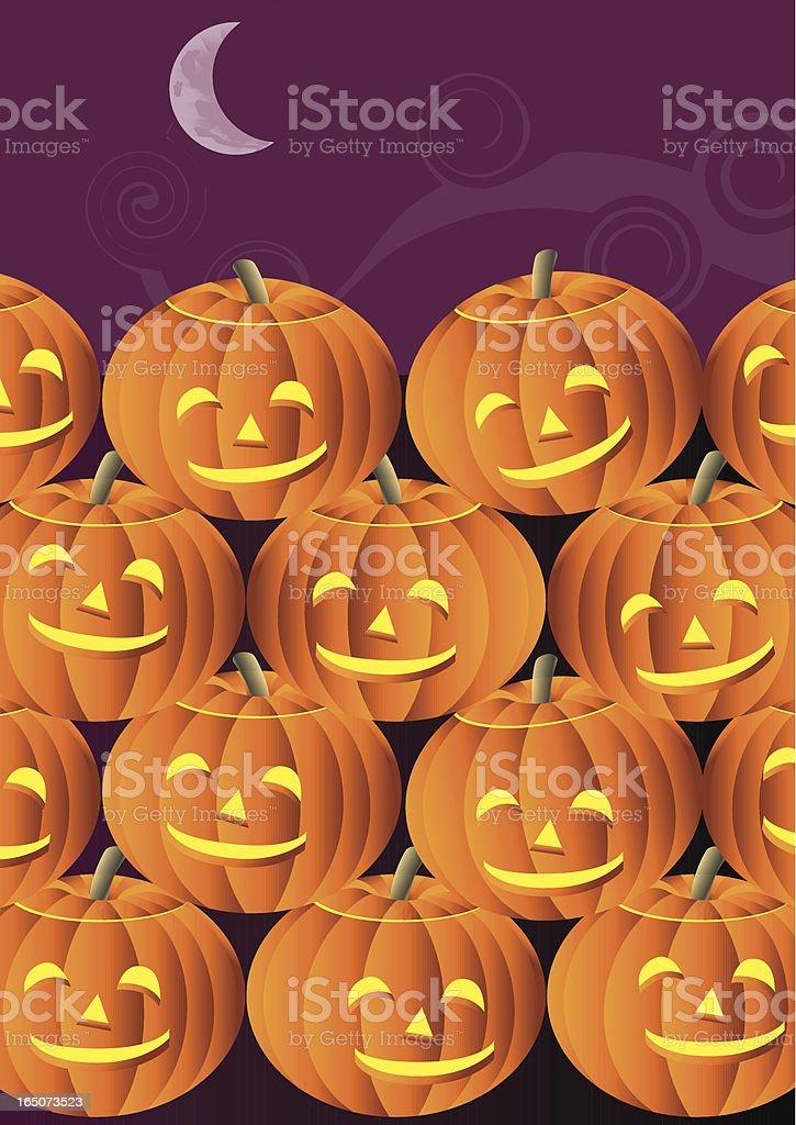 Halloween Happy Pumpkins royalty-free stock vector art