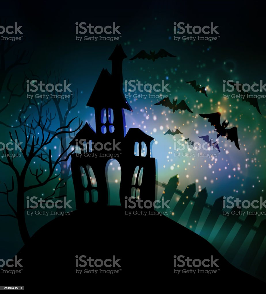 Halloween haunted house royalty-free halloween haunted house stock vector art & more images of abstract