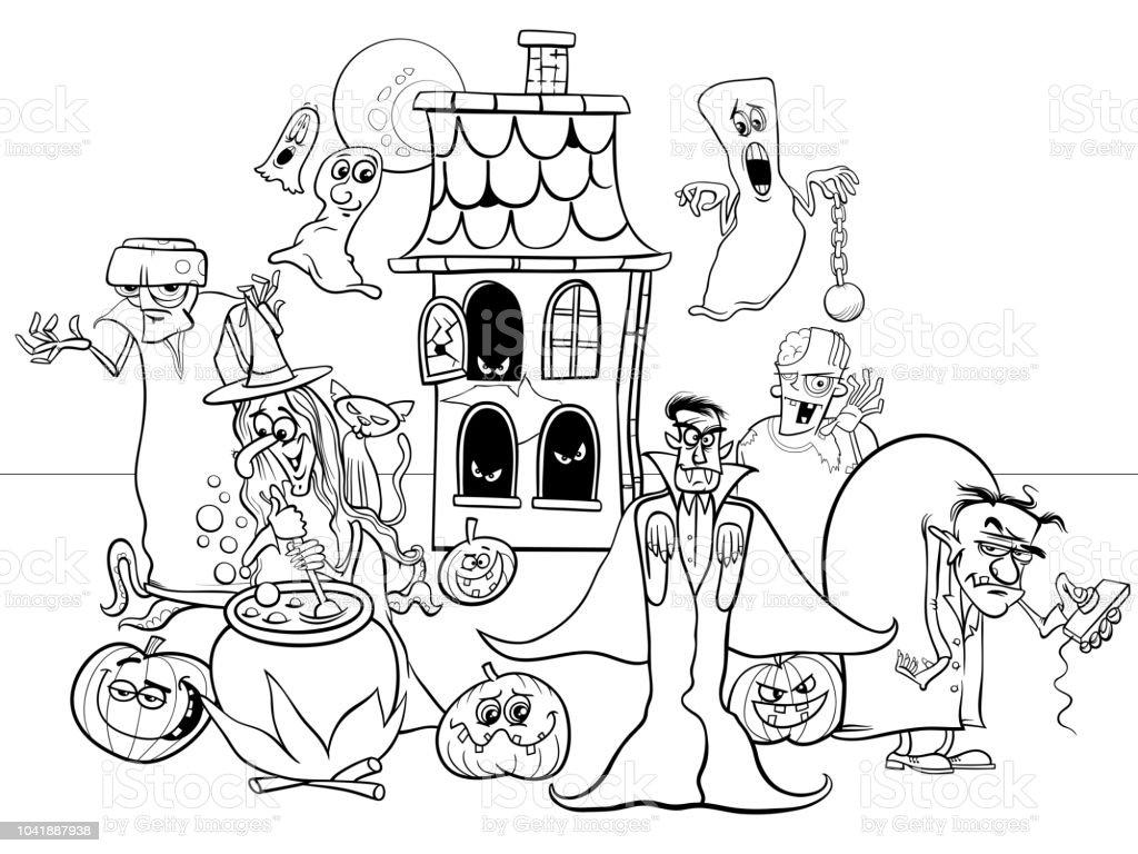 Ilustración de Personajes De Dibujos Animados De Día De Fiesta De ...