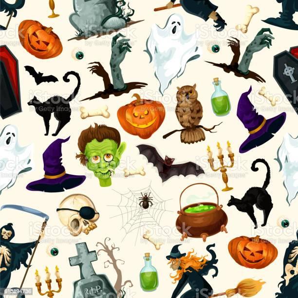 Halloween holiday cartoon horror seamless pattern vector id613894736?b=1&k=6&m=613894736&s=612x612&h=z w3gjev87tx43t9flh7a7ehu trf74sy62nz7lshk0=
