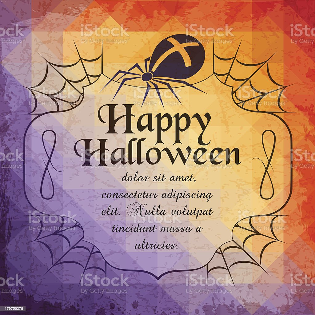 Halloween Holiday greeting card royalty-free stock vector art