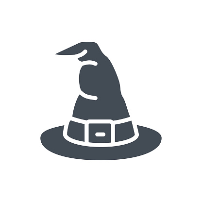 Halloween Holiday Silhouette Icon Witch Hat Stock Illustration Download Image Now Istock