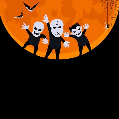 Halloween Horror Poster. Monster Party