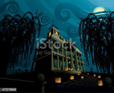 istock Halloween House 472275643