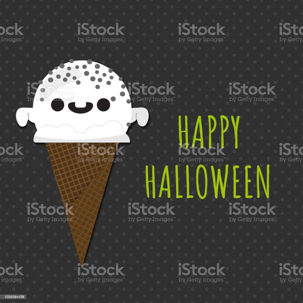 Halloween Ijs.Halloween Ijs Smiling Schattig Ghost Vormige Bolletje Ijs