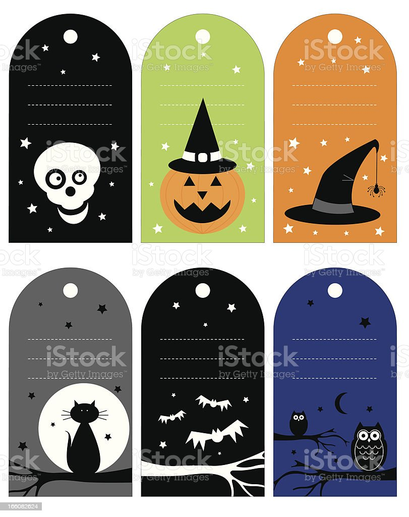 Halloween Icon Gift Tags royalty-free stock vector art
