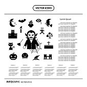 halloween icon info graphic