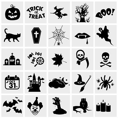 Halloween icon set VECTOR Devices