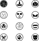 12 Icons related to Halloween and Horror.