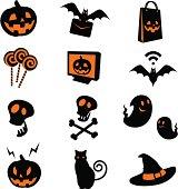 Style Vector Icon Set Of Halloween.