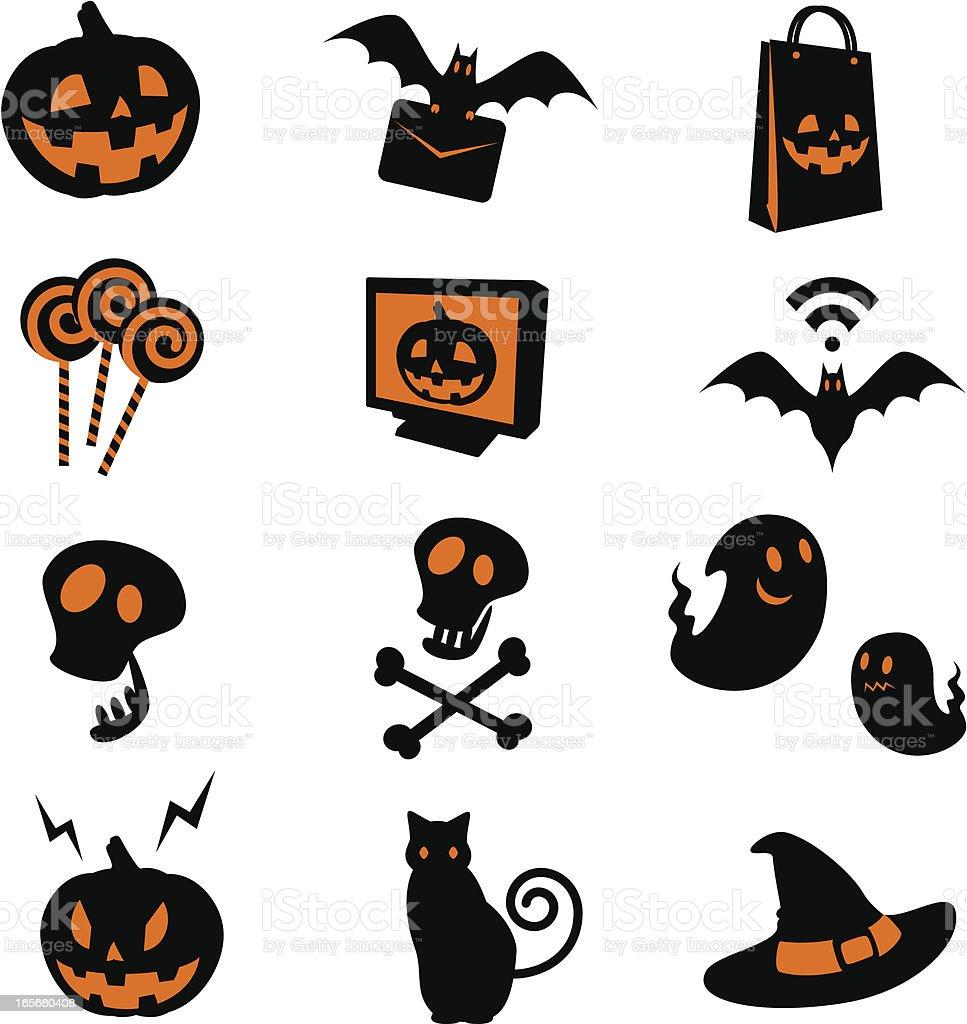 Ensemble d'icônes d'Halloween - Illustration vectorielle