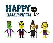 Halloween icon set.