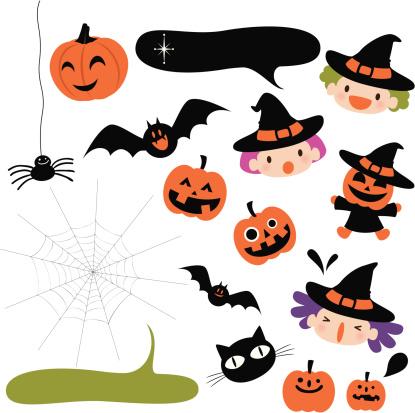 Halloween Icons Design Element