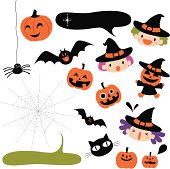 Vector illustration – Halloween icons.