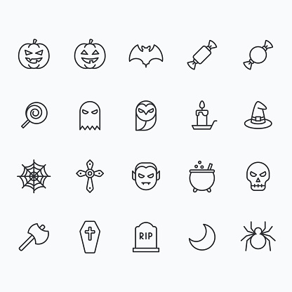 Halloween icons for web and mobile