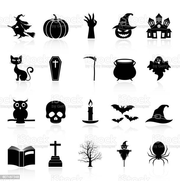 Halloween icons set collection vector id607487348?b=1&k=6&m=607487348&s=612x612&h=u3f2h5ebxiugna f eed0f2zlipkjwexfmrszvzyw6e=